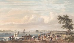 General view of Calcutta, from the entrance to the Water Gate of Fort William